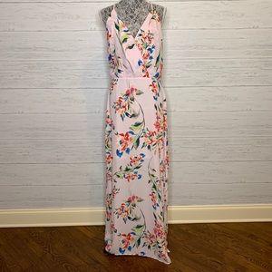 Lush Surplice Floral Maxi Dress  in Mauve NWT